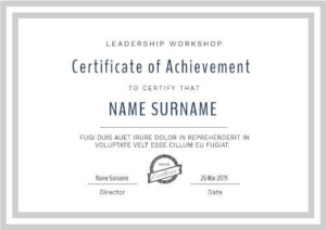 Certificate Of Attainment Template (1) – Templates Example for Fresh Certificate Of Attainment Template