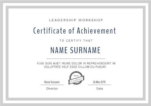 Certificate Of Attainment Template (1) - Templates Example for Fresh Certificate Of Attainment Template
