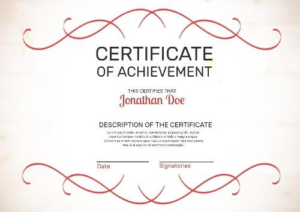 Certificate Of Attainment Template (2) – Templates Example within Fresh Certificate Of Attainment Template