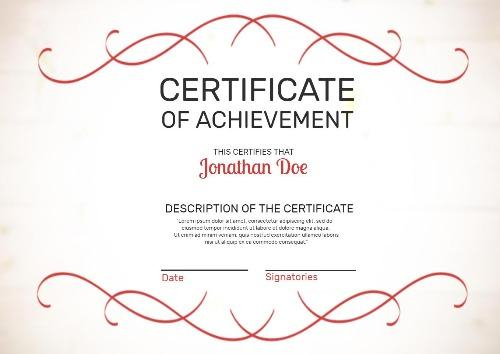 Certificate Of Attainment Template (2) - Templates Example within Fresh Certificate Of Attainment Template