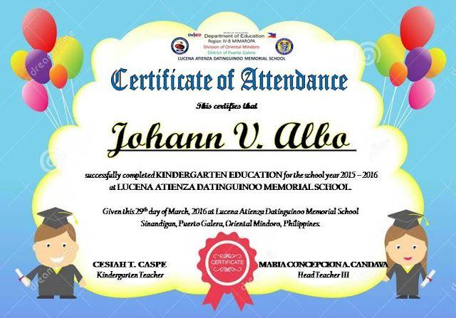Certificate Of Attendance Templates Editable   Attendance for Perfect Attendance Certificate Template Editable