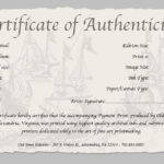 Certificate Of Authenticity Of A Fine Art Print With Photography Certificate Of Authenticity Template