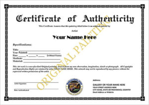 Certificate Of Authenticity Templates – Word Excel Pdf Formats inside Best Certificate Of Authenticity Templates