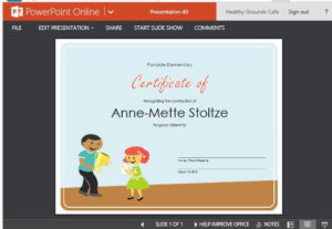 Certificate Of Award Template For Students With Award Certificate Template Powerpoint