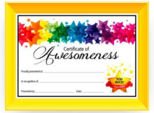 Certificate Of Awesomeness - Dabbles & Babbles | Free pertaining to Free Printable Certificate Templates For Kids