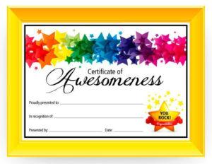 Certificate Of Awesomeness – Dabbles & Babbles | Free regarding Best Children'S Certificate Template