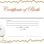 Certificate Of Birth Printable Certificate | Birth Pertaining To Cute Birth Certificate Template