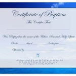 Certificate Of Christian Baptism Free Printable For All Ages Throughout Christian Baptism Certificate Template