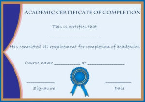 Certificate Of Completion: 22 Templates In Word Format in Quality Class Completion Certificate Template