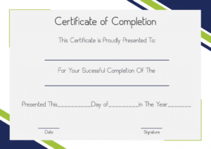 Certificate Of Completion Construction | Certificate Template Throughout Certificate Of Completion Construction Templates