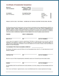 Certificate Of Completion Construction Templates (2 intended for Fresh Certificate Of Completion Template Construction