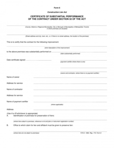 Certificate Of Completion Construction Templates (4 regarding Certificate Of Construction Completion Template