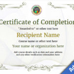 Certificate Of Completion – Free Quality Printable Templates In Certificate Of Completion Template Free Printable