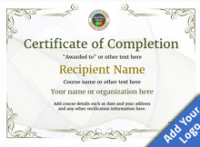 Certificate Of Completion - Free Quality Printable Templates inside New Certificate Of Completion Templates Editable