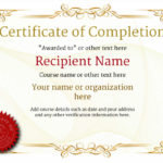 Certificate Of Completion – Free Quality Printable Templates Intended For Fresh Certificate Of Completion Template Free Printable