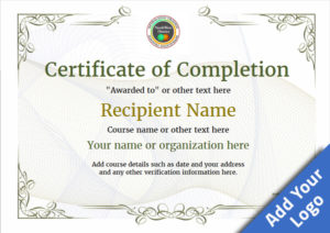 Certificate Of Completion – Free Quality Printable Templates with regard to Class Completion Certificate Template