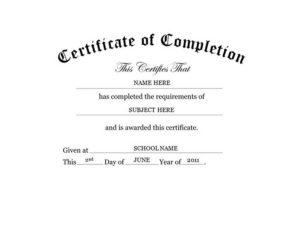 Certificate Of Completion Free Templates Clip Art & Wording regarding Free Printable Best Husband Certificate 7 Designs