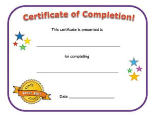 Certificate Of Completion | School Certificates, Certificate Intended For Kindergarten Certificate Of Completion Free