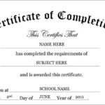 Certificate Of Completion Template | Certificate Of Within Free Completion Certificate Templates For Word