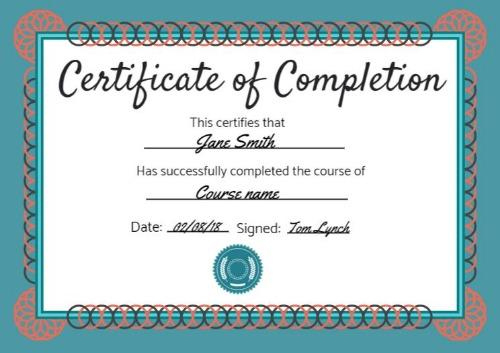 Certificate Of Completion Templates | Customize In Seconds with regard to Certification Of Completion Template