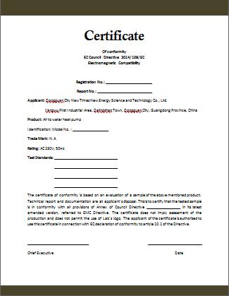 Certificate Of Compliance Template (3) - Templates Example regarding Certificate Of Compliance Template