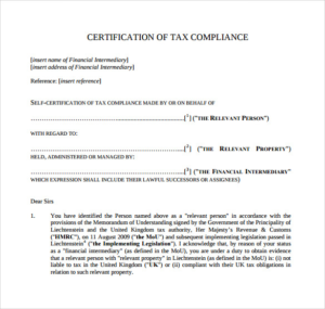 Certificate Of Compliance Template (6) – Templates Example pertaining to Fresh Certificate Of Compliance Template