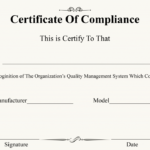 Certificate Of Compliance Template | Certificate Template Within Certificate Of Compliance Template