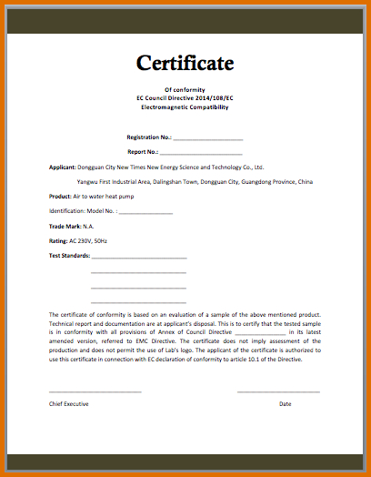 Certificate Of Conformance Template Free (1) - Templates for Certificate Of Conformance Template