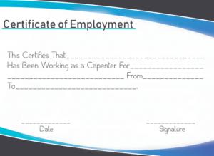 Certificate Of Employment Sample   Certificate Template intended for Certificate Of Employment Template