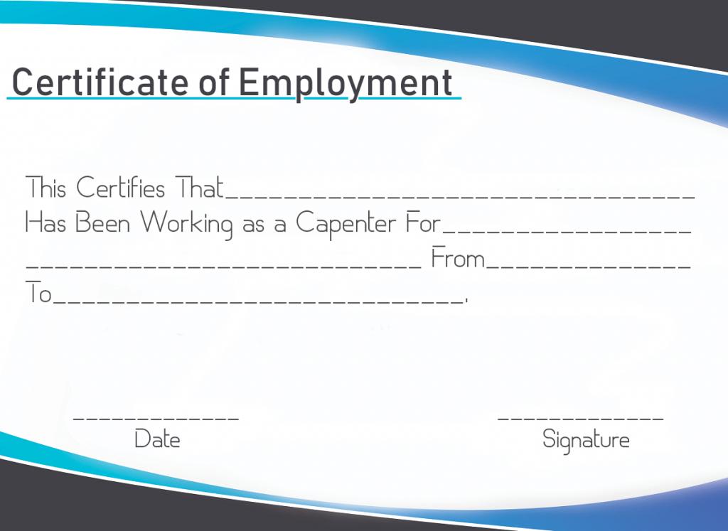 Certificate Of Employment Sample | Certificate Template with Fresh Template Of Certificate Of Employment
