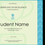 Certificate Of Excellence For Student With Academic Excellence Certificate