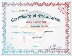 Certificate Of Graduation For Ms Word Download At Http throughout Graduation Certificate Template Word