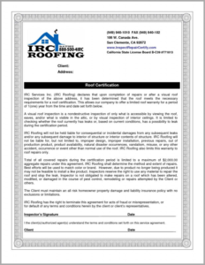 Certificate Of Inspection Template Awesome Roof Inspection regarding Certificate Of Inspection Template