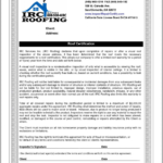 Certificate Of Inspection Template Awesome Roof Inspection Within Roof Certification Template