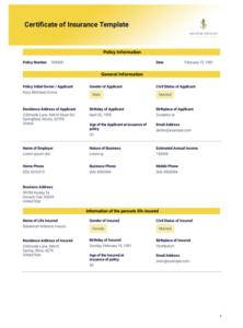 Certificate Of Insurance Template – Pdf Templates | Jotform intended for Certificate Of Insurance Template