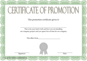 Certificate Of Job Promotion Template Free 1 | Certificate regarding Promotion Certificate Template