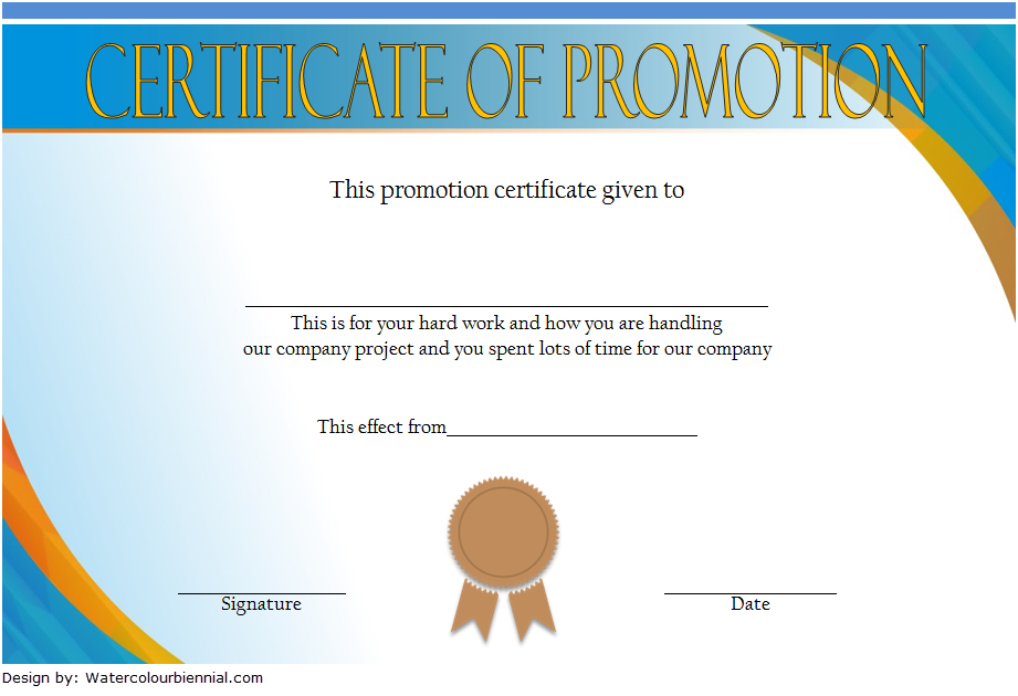 Certificate Of Job Promotion Template Free 2 | Certificate throughout Unique Job Promotion Certificate Template Free