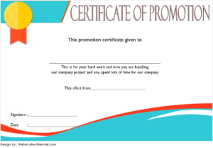 Certificate Of Job Promotion Template Free 3 | Certificate in Unique Job Promotion Certificate Template Free