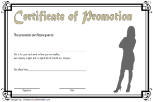 Certificate Of Job Promotion Template Free 6 | Printable pertaining to Job Promotion Certificate Template Free