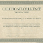 Certificate Of License Template (4) – Templates Example Intended For Certificate Of License Template
