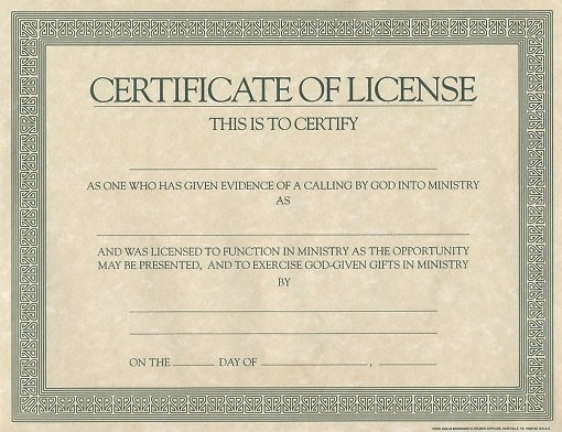 Certificate Of License Template (4) - Templates Example intended for Certificate Of License Template