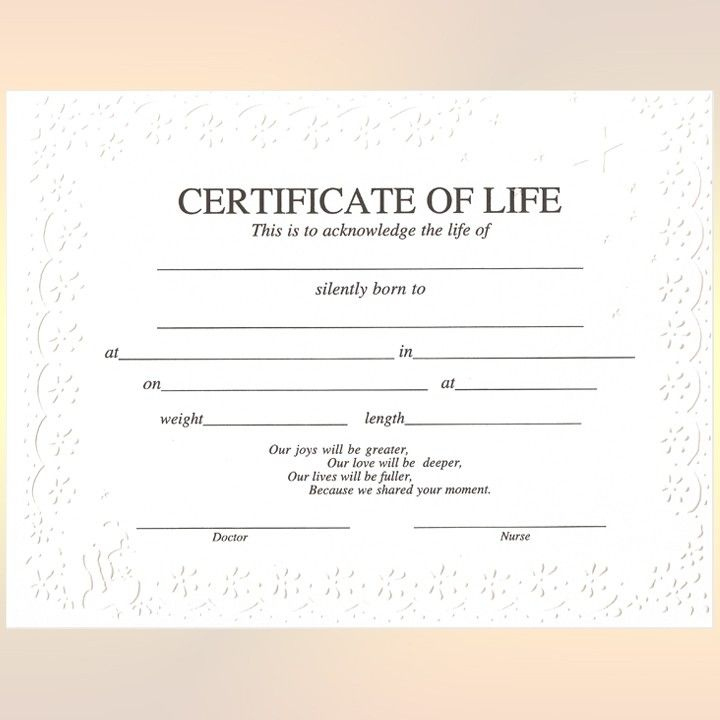 Certificate Of Life | Baby Death, Death Certificate intended for Baby Death Certificate Template