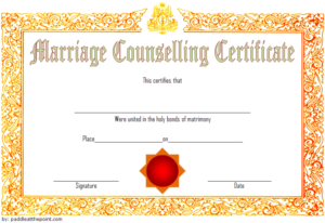 Certificate Of Marriage Counseling Template Free 2 pertaining to Best Premarital Counseling Certificate Of Completion Template