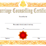 Certificate Of Marriage Counseling Template Free 2 Within Marriage Counseling Certificate Template