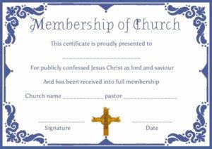 Certificate Of Membership Template Fresh Free Church with regard to Unique Membership Certificate Template Free 20 New Designs