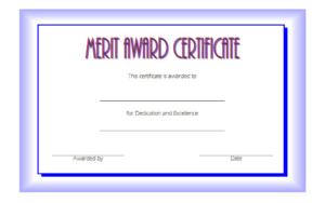 Certificate Of Merit Award Free Printable [10+ Prime Ideas] inside Quality Merit Certificate Templates Free 10 Award Ideas