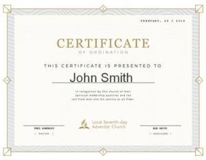 Certificate Of Ordination Template (7) – Templates Example regarding Certificate Of Ordination Template