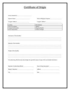 Certificate Of Origin [Template Download] | Hloom pertaining to Certificate Of Origin Form Template