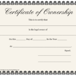 Certificate Of Ownership Template Download Printable Pdf In Best Ownership Certificate Template