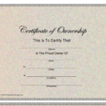 Certificate Of Ownership Template Download Printable Pdf In Quality Certificate Of Ownership Template